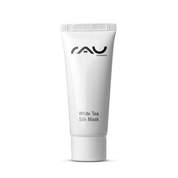 RAU White Tea Silk Mask 8 ml – s hodvábnymi proteínmi, bielym čajom, panthenolom a Sheabutter