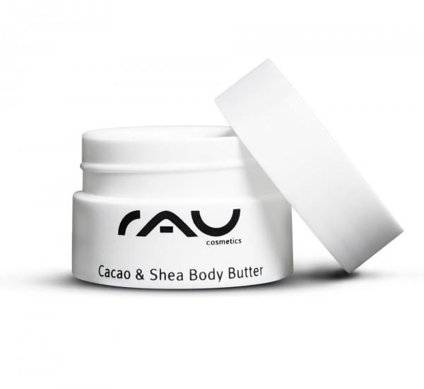 RAU Cacao & Shea Body Butter 20 ml – pre výnimočne jemnú a zamatovú pokožku