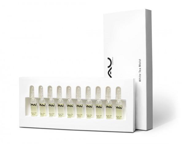 RAU White Tea Moist Ampuly 10x2 ml – efektívny hydratačný koncentrát
