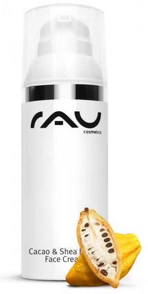RAU Cacao & Shea Butter Face Cream 50 ml – s bambuckým a kakaovým maslom a ryžovým klíčkovým olejom
