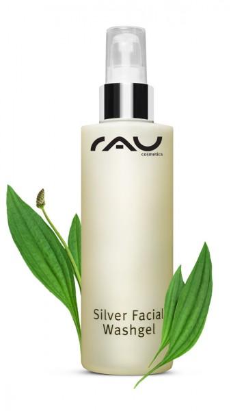RAU Silver Facial Washgel 200 ml – Gél na čistenie pleti s mikrostriebrom & skorocelom