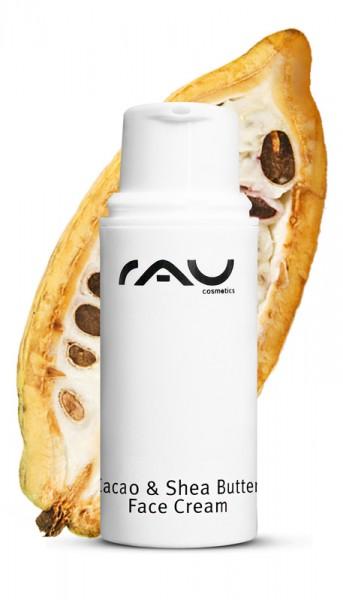 RAU Cacao & Shea Butter Face Cream 5 ml – s bambuckým a kakaovým maslom a ryžovým klíčkovým olejom